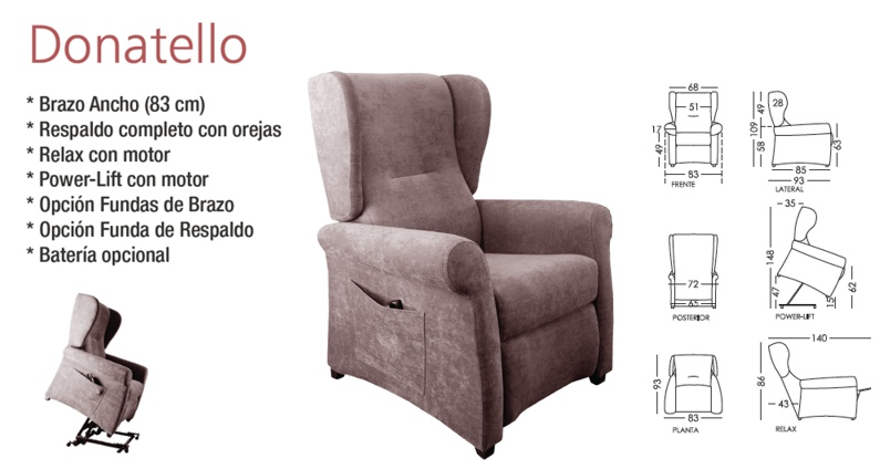 Donatello sillón Powerlift