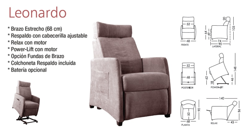 Leonardo sillon Powerlift
